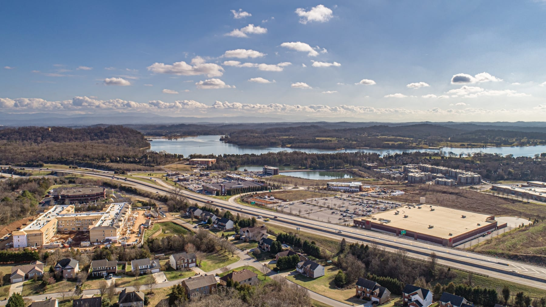 Aerial View of Prime West Knoxville