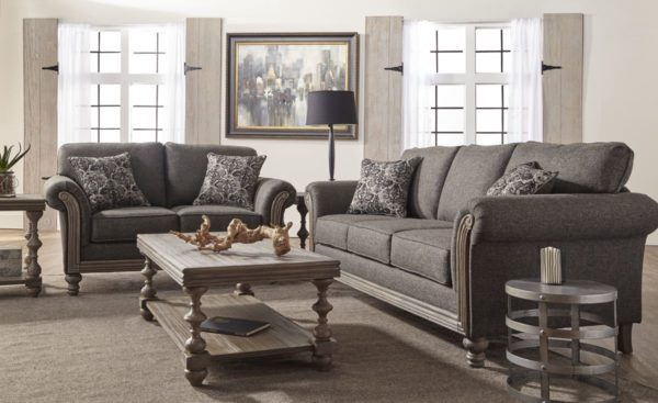 Serta 3700 Sofa & Loveseat in Jitterbug Gray