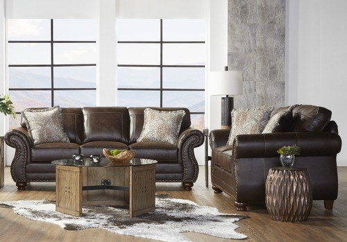 17400 Sofa & Loveseat: Ridgeline Brownie