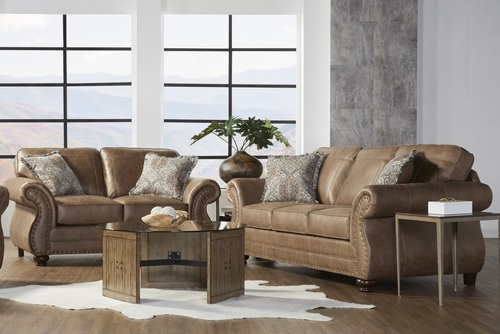 17410 Sofa & Loveseat: Jetson Ginger