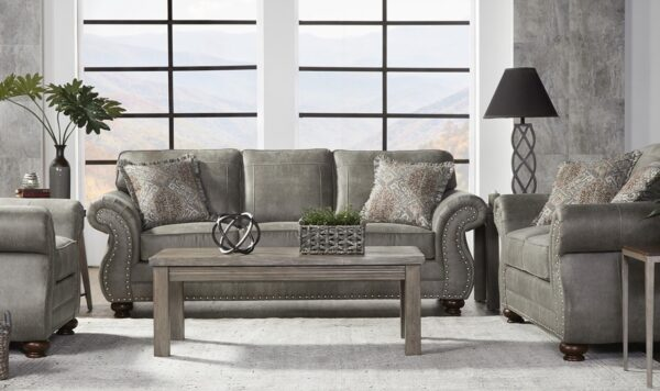 17450 Sofa & Loveseat: Goliath Mica