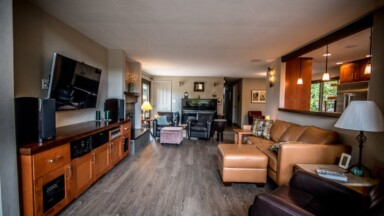 Living room by John Webb Construction