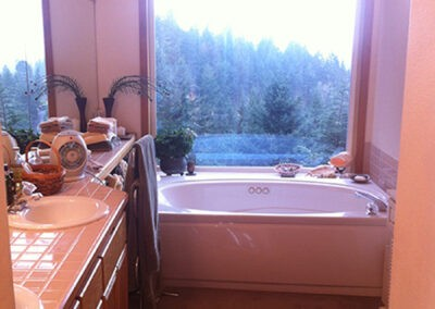Photograph of the bathroom before the remodel