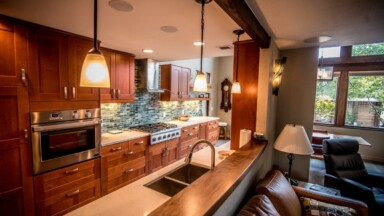 Photo of the remodeled kitchen