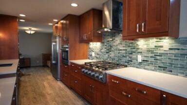 Wood Shaker kitchen remodel