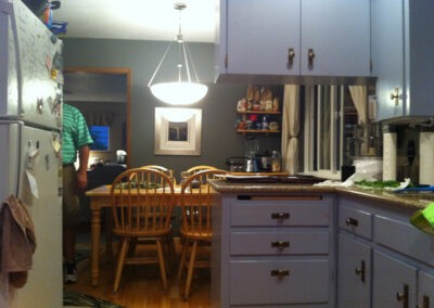 Photo of the kitchen before the remodeling