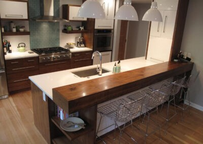 Modern kitchen remodel with IKEA cabinets
