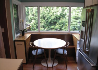 Breakfast nook for a kitchen remodel