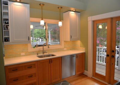 Kitchen remodel with Shaker cabinets