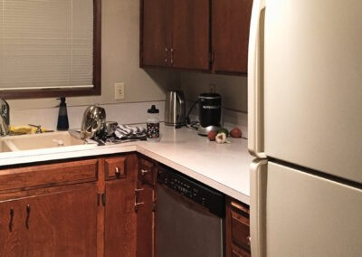 Photo of the kitchen before the remodel