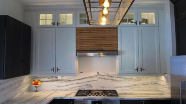 Kitchen remodel with IKEA cabinets and granite countertop