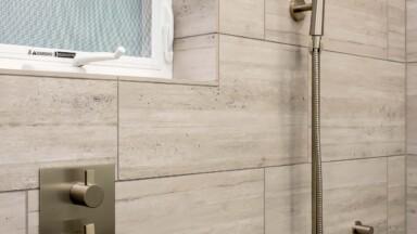 Kitchen remodel shower fixtures