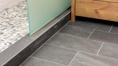 Bathroom remodel floor tile