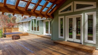 Exterior remodel covered porch