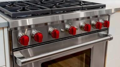 Modern kitchen remodel with Wolf range