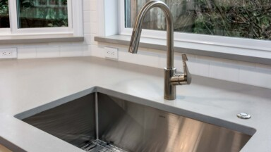 Modern kitchen sink and faucet
