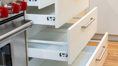 Modern kitchen remodel cabinet drawers