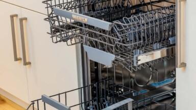 Modern kitchen remodel dishwasher
