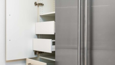 Modern kitchen cabinet drawers