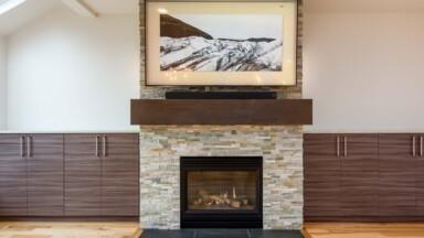 Open floor plan remodel fireplace