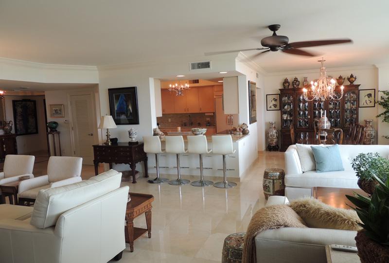 Condominium Renovation   Modern Style   Living Room   Marble Flooring