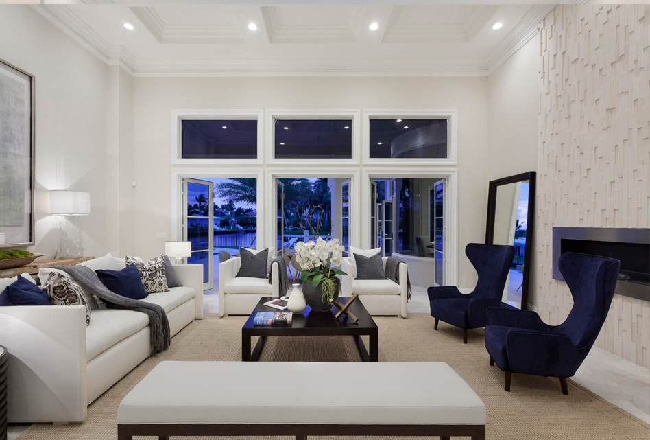Formal Living Room | Transitional Style | Fireplace