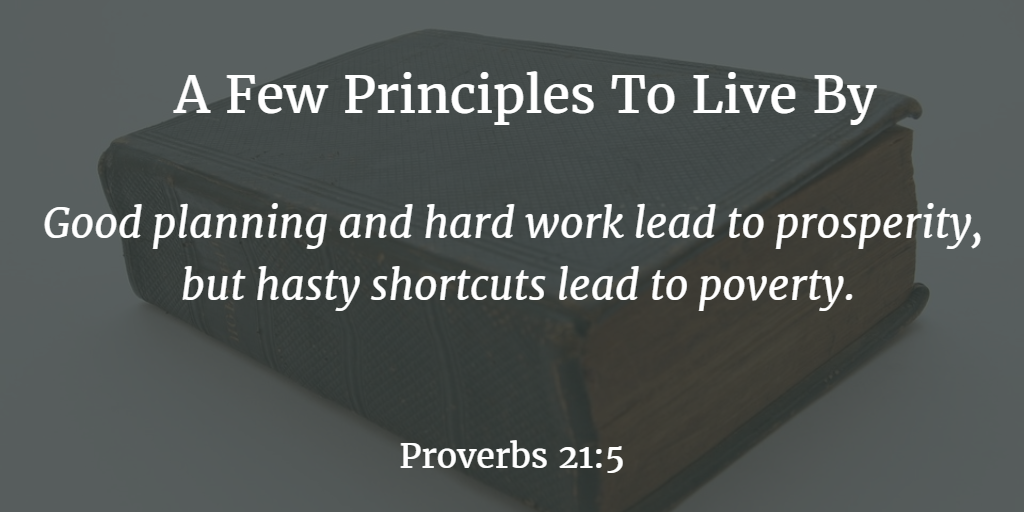 A Few Principles To Live By  Pastor Sylvester E. Chase, Jr.