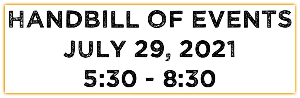 handbill button July