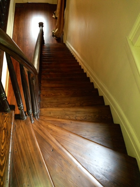 stair treads, refinish, polyurethane, hardwood