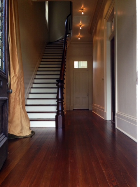 stair treads, hardwood, refinish, polyurethane