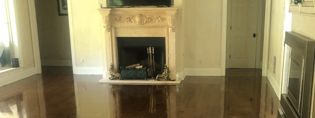 sanded and stained prefinished flooring