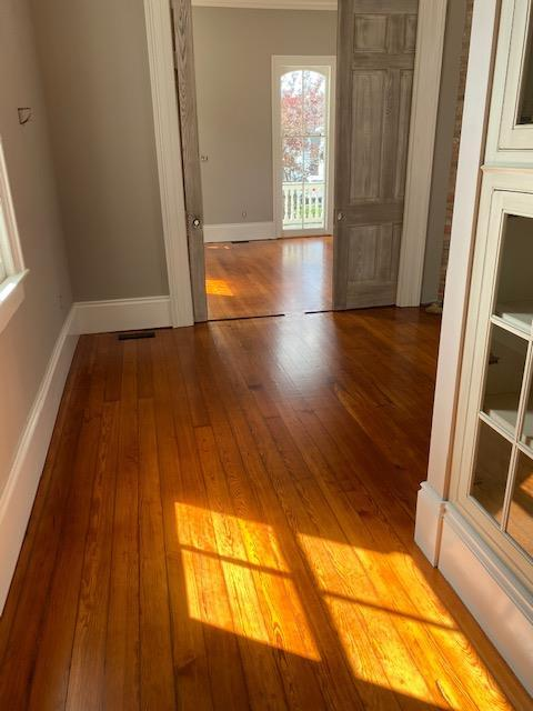 Refinished Red Heart of Pine Flooring
