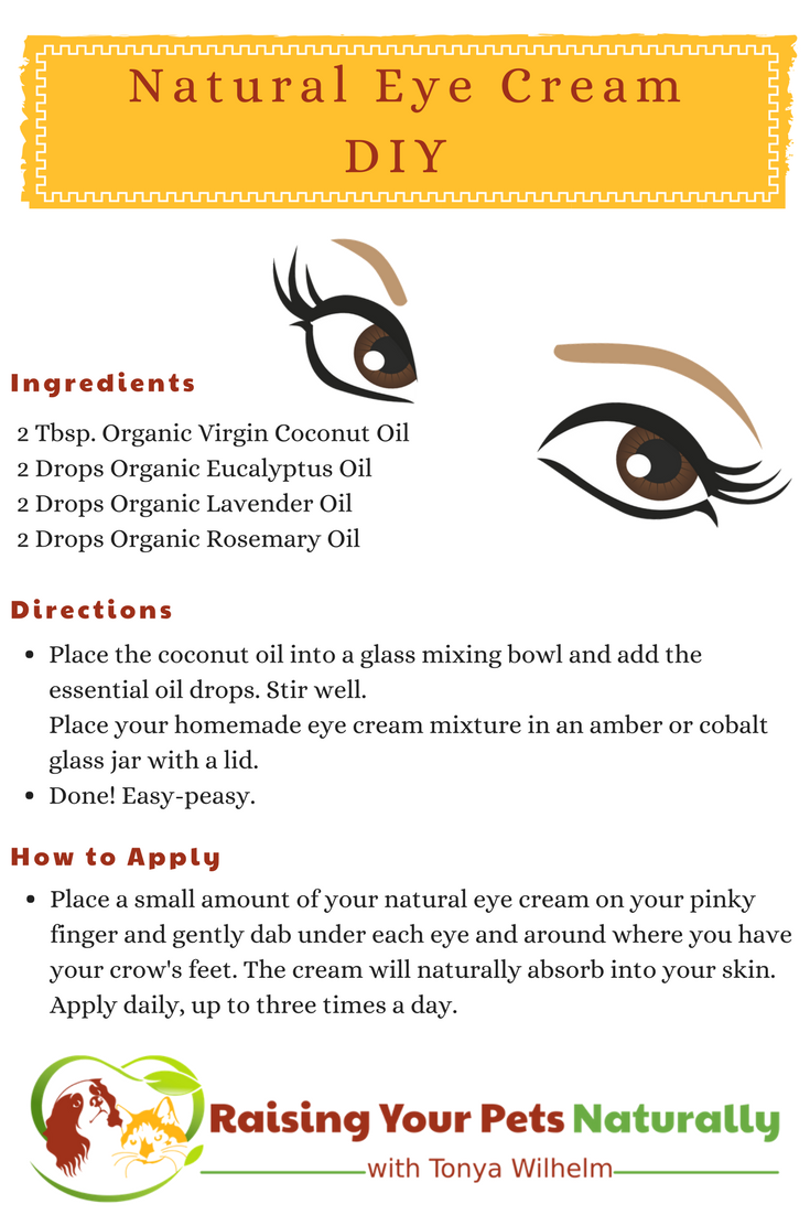 Best DIY Natural Eye Cream For Wrinkles, Dark Circles and Bags. Natural ways to reduce wrinkles, dark circles, puffy eyes and bags under the eyes.#raisingyourpetsnaturally #diy #naturalskincare #skincare #naturalproducts #healthywomen