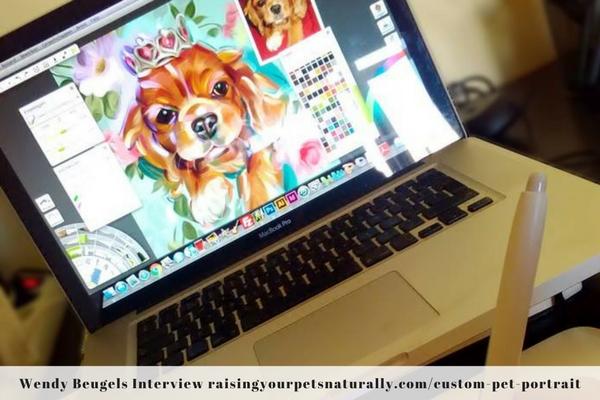 Custom pet paintings and portraits.