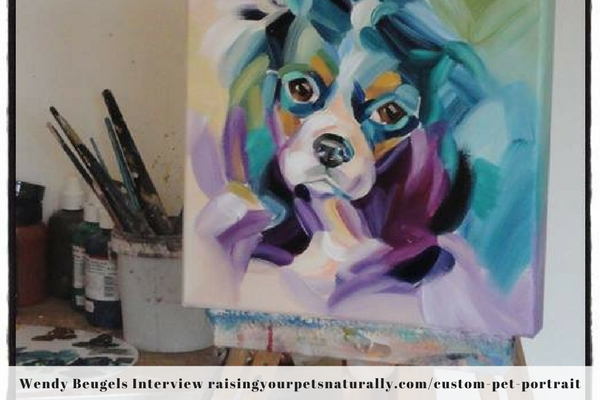 Colorful custom pet paintings