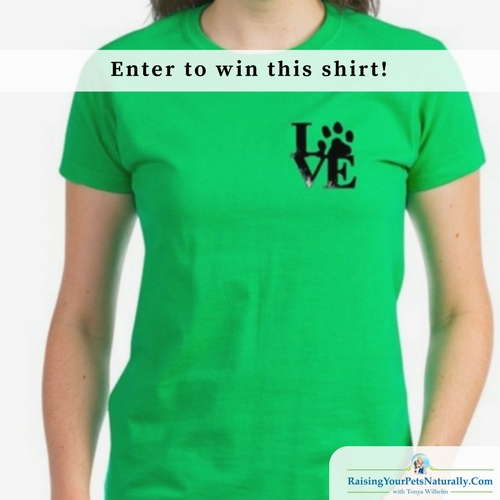 Enter below for a chance to win this Woman's Fitted T-shirt size XLarge. I just made this fun LOVE Paw design for my Cafepress Store and ordered this shirt for me. Ooops, a bit too snug for my curves. So, I decided to give it to a fan in this giveaway. It's this shirt, this design, and this size. No substitutions. US only winner. Good luck. Contest ends Sunday 4/16/17 midnight EST Offical contest rules.