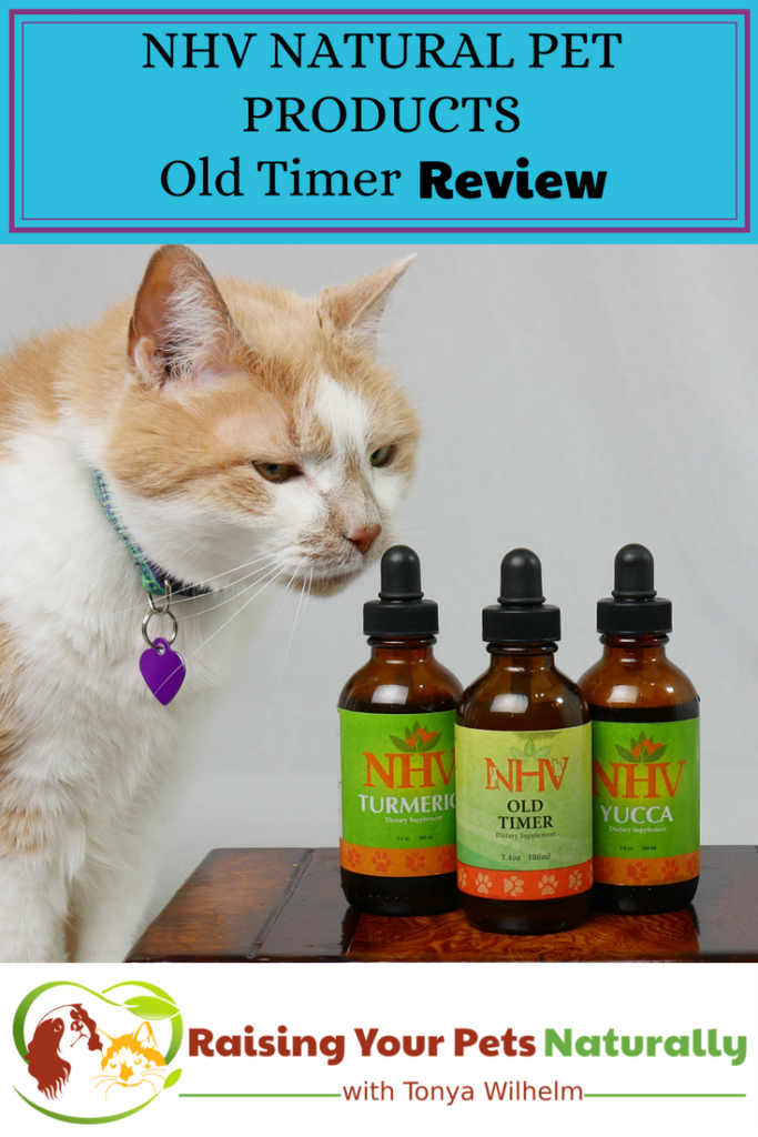 Natural Joint Supplements for Senior Cats. NHV Natural Pet Products Old Timer Joint Problem Kit Review. #raisingyourpetsnaturally #seniorcats #cathealth #naturalcat #seniorpets #naturalpetproducts