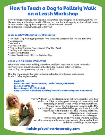 How to Teach a Dog to Politely Walk on a Leash Workshop | Columbus, Ohio Area #ColumbusDogs #ColumbusDogTraining #Columbus #ColumbusOhio