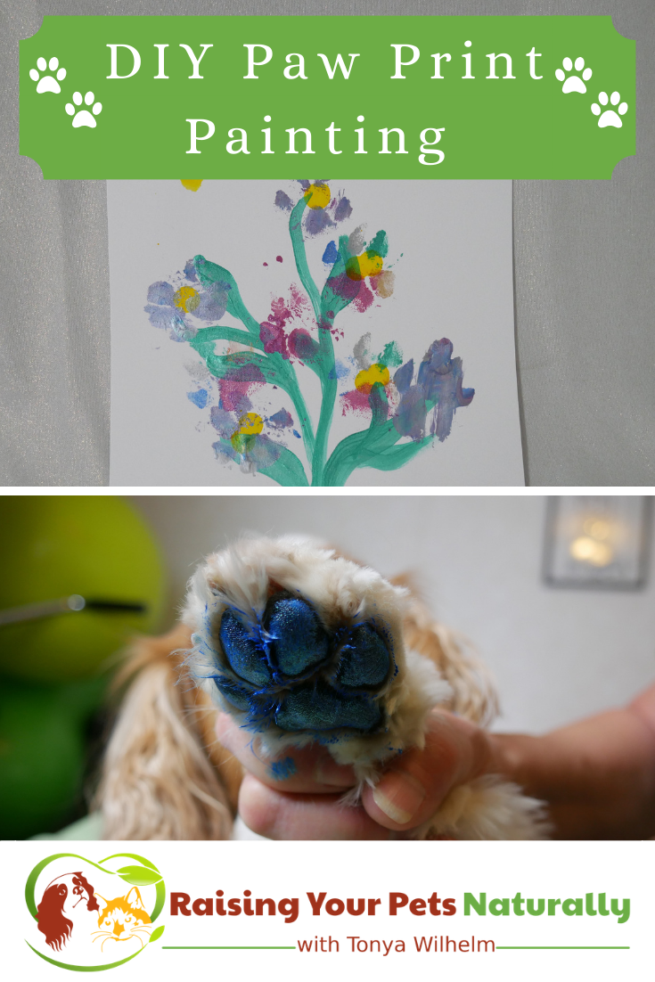 DIY Paw Print Painting Keepsake   Learn How to Make a Homemade Paw Print Painting