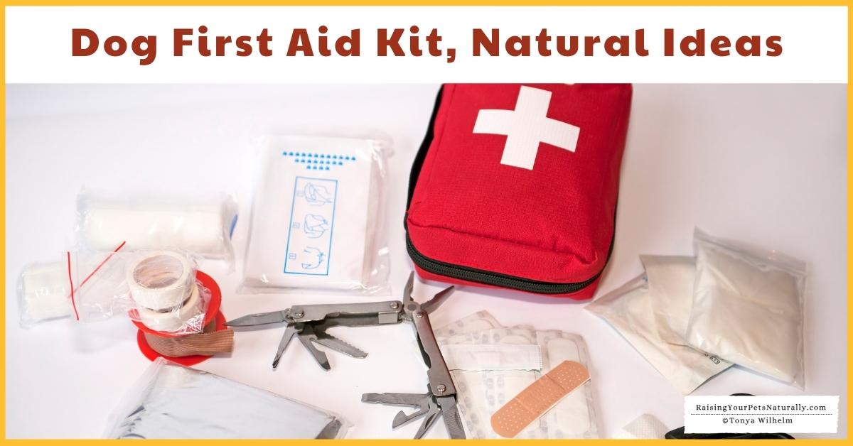 Natural dog first aid kits