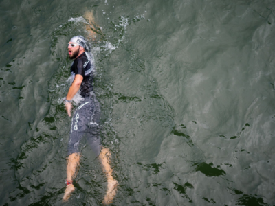 use fins to become faster in the water