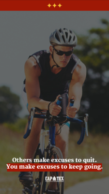 CapTex Tri Motivational Background with cyclist