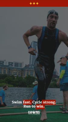 Motivational Triathlon Wallpaper Background for iphones CapTex Tri Austin, Texas
