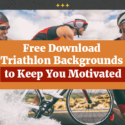 man swim bike and run for motivational triathlon backgrounds to keep you motivated.