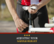 A cyclist adjusts the saddle height on his bike. Text on design reads Adjusting Your Saddle Height. Learn more at https://captextri.com/adjusting-your-saddle-height/