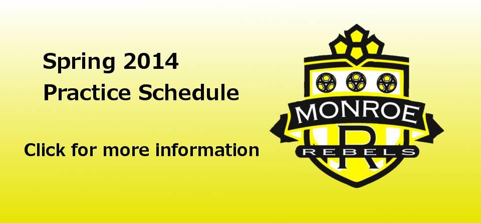 Practice Schedule Spring 2014