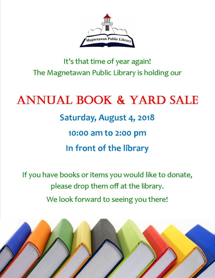 Annual Book and Yard sale poster
