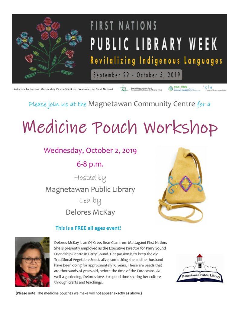 Poster for FNPLW Medicine Pouch Workshop