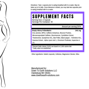 Simply Skinny Pollen 2.0 Supplement Facts