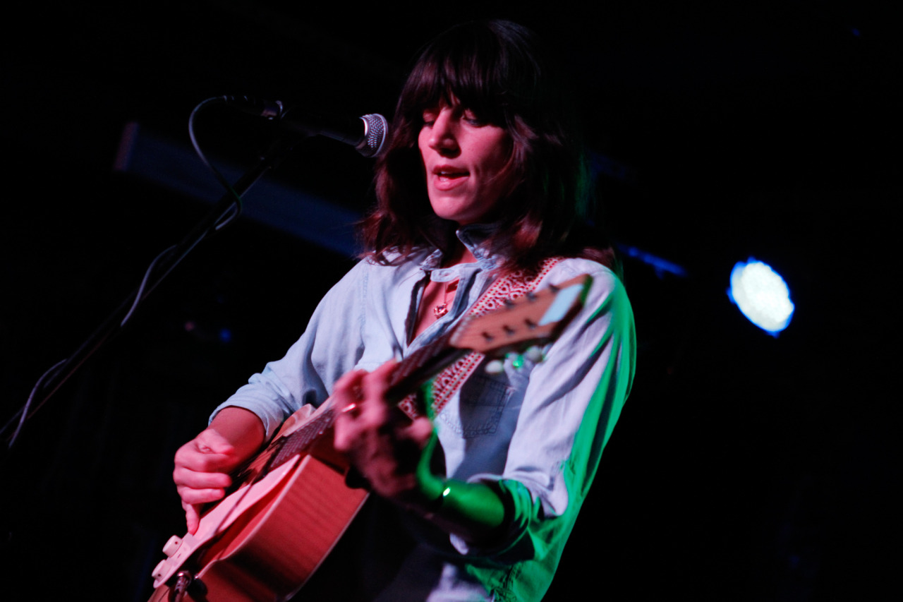 Eleanor Friedberger performs at Merge Records' showcase at Mercury Lounge during the CMJ Music Marathon in New York, NY on Oct. 18, 2012.